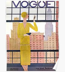 Vogue Cover - May 1928 - City View Poster