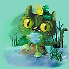 Crazy Water Goblin Cat by colonelle