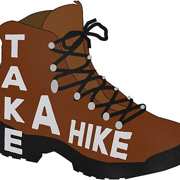 Hiking Boot - Hiker Outdoor Sticker by ericbracewell