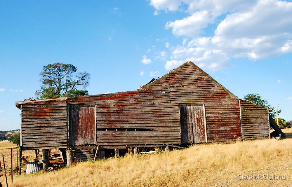 Old Red Shearing Shed by Clare McClelland