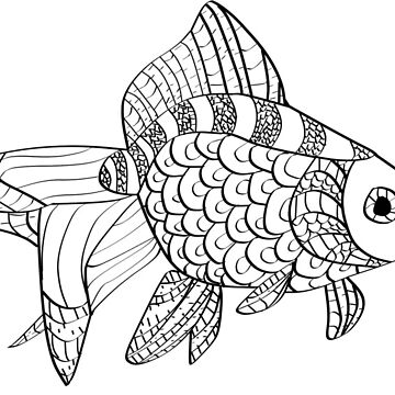 Mosaic Fish - Monochrome by Faetouched