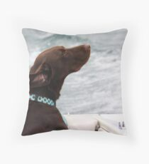 Ahhhh.....  The Wind in My Hair Throw Pillow