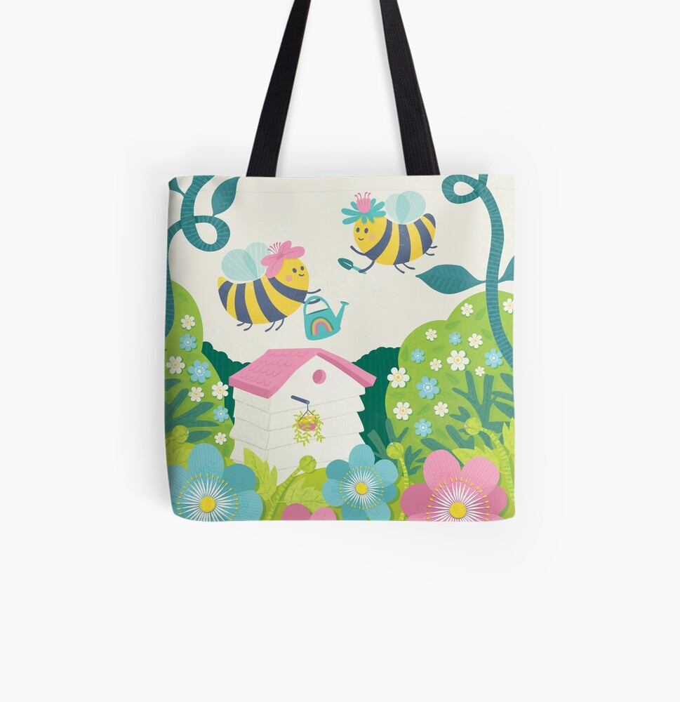 Busy Buzzy Bees All Over Print Tote Bag