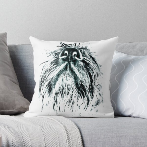 Italian Spinone Nose Throw Pillow