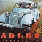 Adler Trumpf Junior ...Vintage 1936 Auto Advertisement by edsimoneit