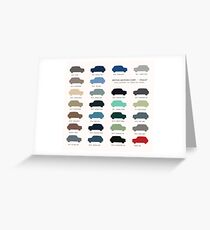 Austin Mini classic - 60's original car colours  Greeting Card