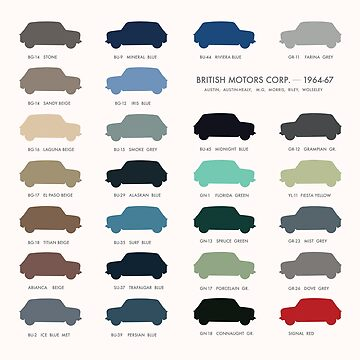 Austin Mini classic - 60's original car colours  by opul