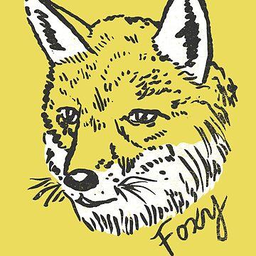 Cute Foxy Fox Drawing by ImaginaryAnimal