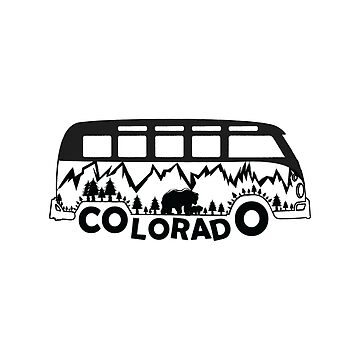 Colorado Travel Camping Car Vintage Design For Men Women and Youth by saadkh