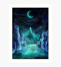 The midnight realms Art Print