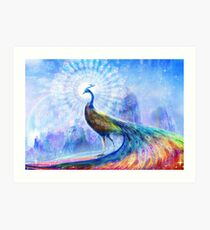 Peacock spectrum Art Print