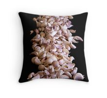 Garlic On Black Throw Pillow