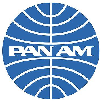Pan Am Tshirt Pan Am Logo on Grey Shirt Classic Defunct Airline by darkvortex