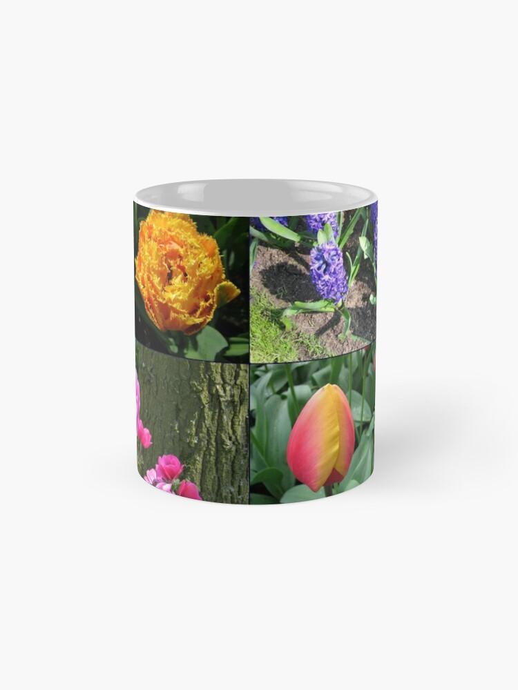 Alternative Ansicht von Flowers and Feathers - Keukenhof Collage Tassen