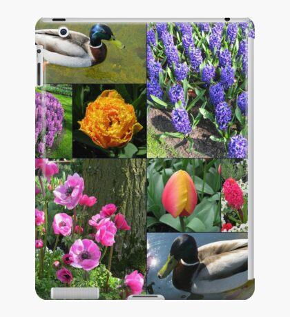 Flowers and Feathers - Keukenhof Collage iPad-Hülle & Klebefolie