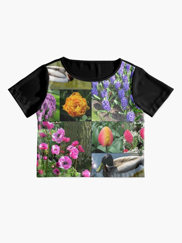 Alternative Ansicht von Flowers and Feathers - Keukenhof Collage Chiffon Top