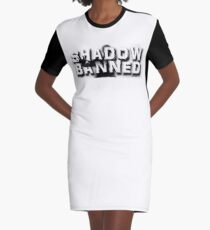 Shadow Banned Graphic T-Shirt Dress