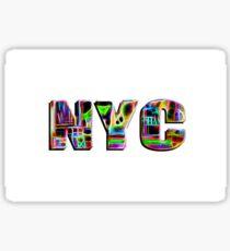 NYC (neon glow type) Sticker
