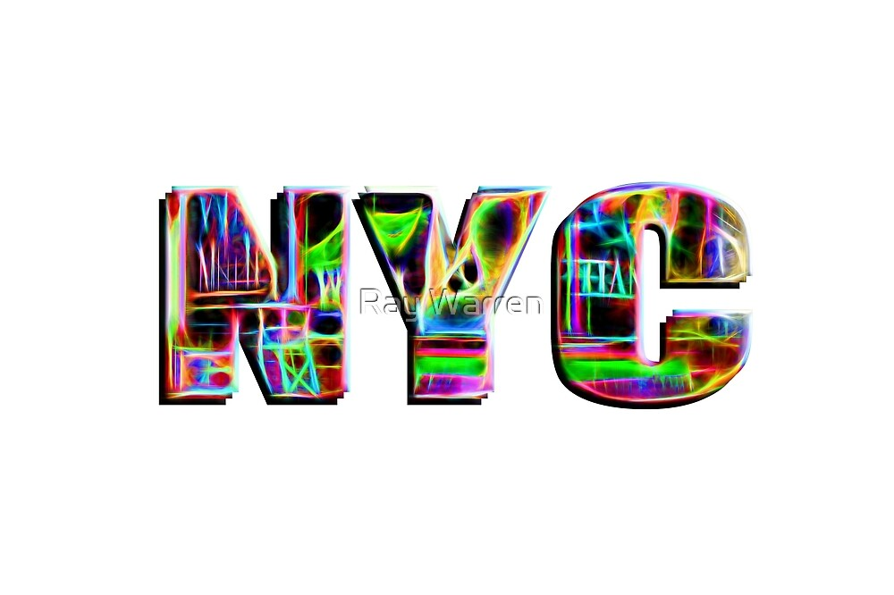 NYC (neon glow type) by Ray Warren