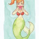 Watermelon Mermaid - MerMonday July 23rd 2018 by dreampigment