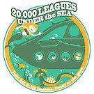 20,000 Leagues Under the Sea (Green, yellow, aqua) by clockworkmonkey