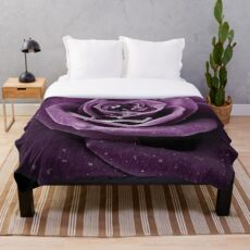 Purple Rose I Throw Blanket