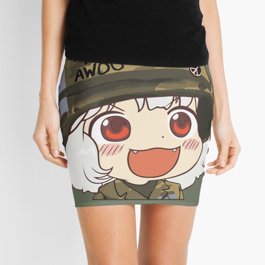 15baad7c7 Awoo Anime girl big smile Kekistan Army Military Born to Awoo with Peace  Symbol#TrumpAnime HD HIGH QUALITY ONLINE STORE Mini Skirt