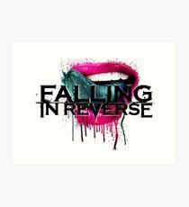 falling in reverse lips Art Print