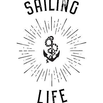Sailing Life sailing, boating, yachting, diving, swimming summer design by Noto57