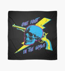 One Foot In the Grave Skull (Neon) Scarf
