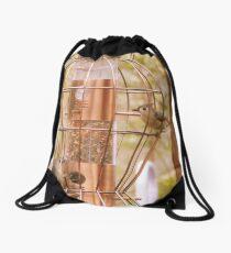 Busy Birdfeeder Drawstring Bag