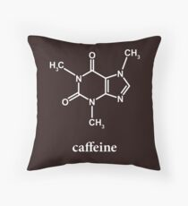 Caffeine Molecule Throw Pillow