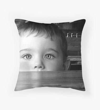 Shy... Throw Pillow
