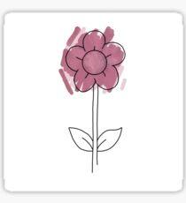 Ethan Dolan - Purple Watercolor Flower Tattoo  Sticker
