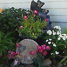 My Textured Flower Garden by Linda Miller Gesualdo
