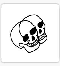 Ethan Dolan - Double Skull Tattoo Sticker