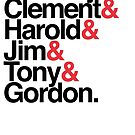Labour Prime Ministers Helvetica by Robin Wilde