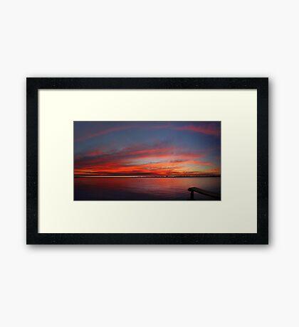Swan River Sunset (Multi Row Panorama)  Framed Print