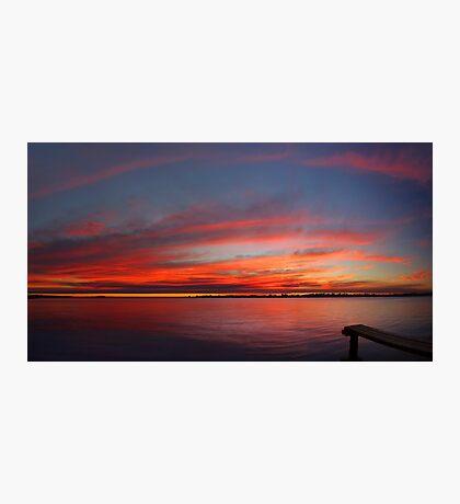 Swan River Sunset (Multi Row Panorama)  Photographic Print