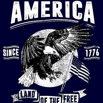 America - Welcome To The Land Of The Free by Skullz23