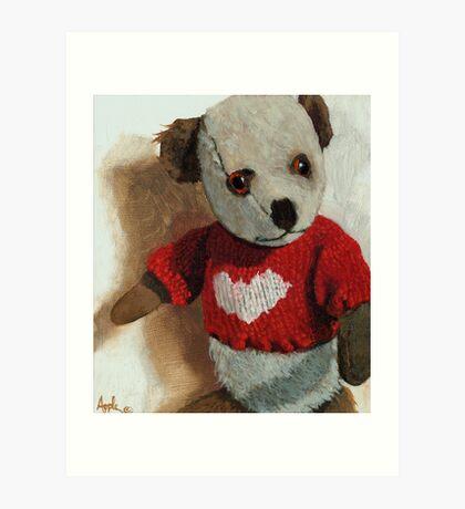 Frank -teddy bear painting Art Print