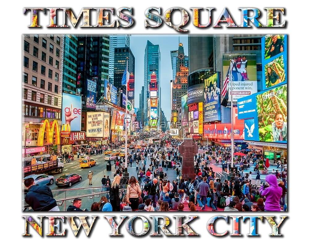 Time Square Tourists by Ray Warren
