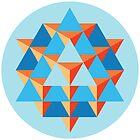 64 Tetrahedron Grid by GalacticMantra