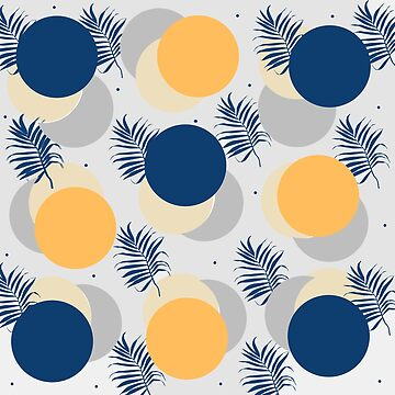 blue and yellow circles by susana-art