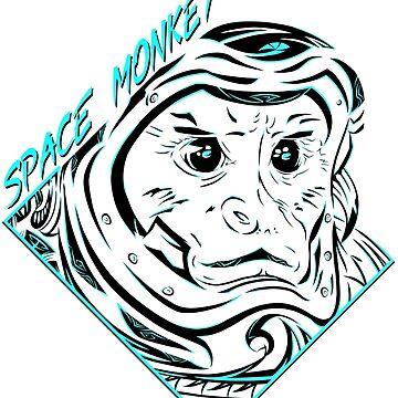 Space Monkey (Turquesa) de FejuLegacy