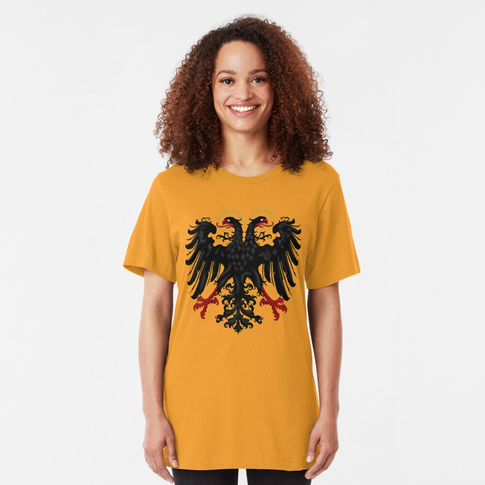 German Black Eagle of the Holy Roman Empire, anno 1440 Slim Fit T-Shirt