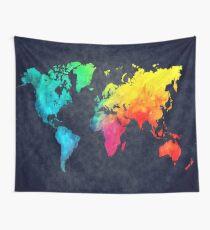 world map watercolor 6 #map #worldmap Tapestry