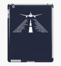 Phonetisches Alphabet | Pilot Geschenk iPad-Hülle & Klebefolie