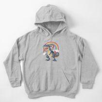 Einhorn Reiten Dinosaurier T Shirt Rex Lustige Einhörner Party Rainbow Squad Geschenke für Kinder Jungen Mädchen Kinder Hoodie