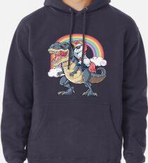 Einhorn Reiten Dinosaurier T Shirt Rex Lustige Einhörner Party Rainbow Squad Geschenke für Kinder Jungen Mädchen Hoodie